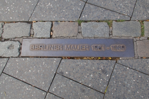 Marker in the Street at Potsdamer Platz