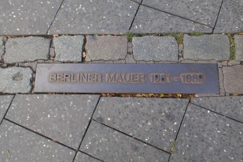 Marker in the Street at Potsdamer Platz