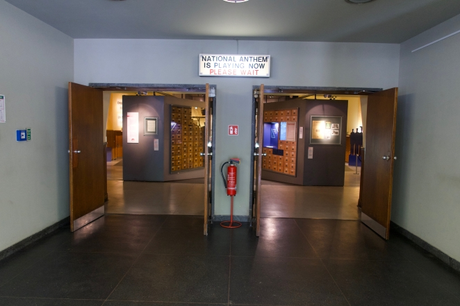 The Outpost Theater Museum Lobby