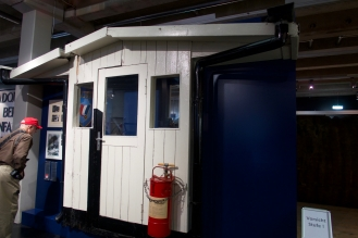 The Original Checkpoint Charlie Guardhouse in the Allied Museum