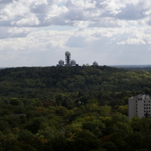 First Glimpse of Teufelsberg From the Bell Tower.